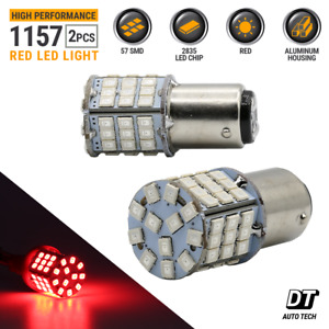 Syneticusa 1157 Red Led Brake Stop Tail Light Parking Bulbs High Power