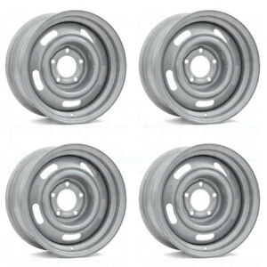 15x8 Silver Wheels Vision 55 Rally 5x4 75 6 Set Of 4