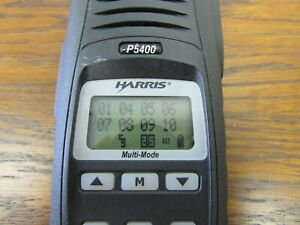 Harris P5400 Vhf 136 174mhz P25 Digital Portable Radio With Trunking Option Inst