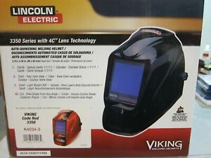 Lincoln Viking 3350 Code Red Welding Helmet K4034 3 Brand New free Shipping