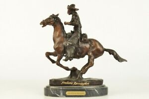 Trooper Of The Plains Bronze Sculpture By Frederic Remington 9 5 X 10