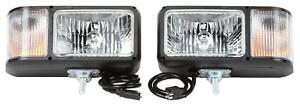 Aftermarket Snow Plow Head Light Kit Universal Halogen W 9007 Halogen Bulbs