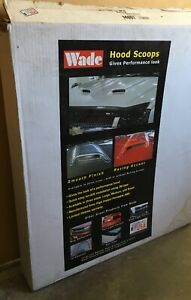 Wade Large Hood Scoop Unpainted 14001 Large Smooth Single