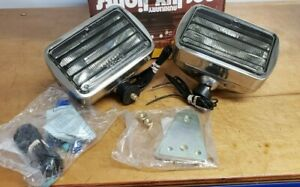Vintage Per lux Louvered Fog Driving Lights Kit 600r Grote Glass Toyota Jeep