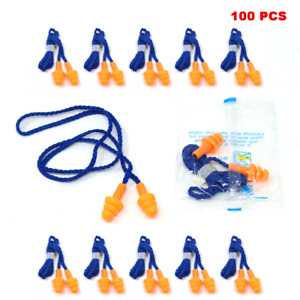 Toolman 100pcs Soft Silicone Ear Plugs For Hearing Protection Reusable