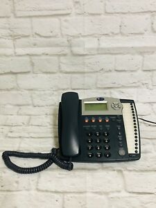 At t Model 945 Small Business 4 Line Speaker Phone With Power Supply Tested