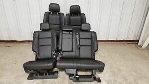 2018 Jeep Grand Cherokee Seats Front Rear Left Right Black Leather W Dvd Oem