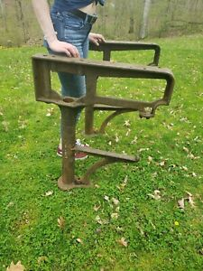 Vintage Industrial Cast Iron Lathe Legs Bench Machine Unusual Hartford