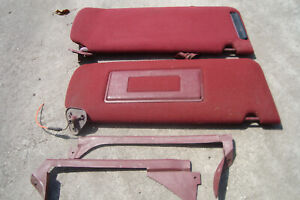 1985 92 Chevy Or Gmc Pickup Truck Factory Red Sun Visors W Windshield Trim Used