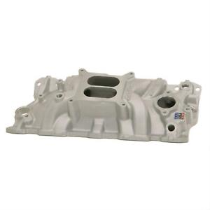 Edelbrock Performer Eps Intake Manold Chevy S283 327 350 Fits Stock Heads 2703