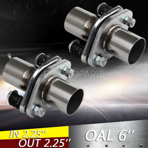 Pair 2 1 4 2 25 Id Stainless Exhaust Spherical Joint Spring Bolt Flange 2 Bolt
