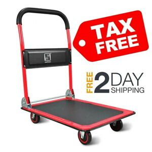 Push Cart Dolly By Wellmax Functional Moving Platform Hand Truck