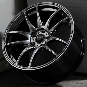 17x8 Hyper Black Wheels Vors Tr4 5x114 3 35 set Of 4