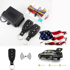 Dc 12v Car Suv Remote Control Kit Central Door Window Trunk Lock Unlock System