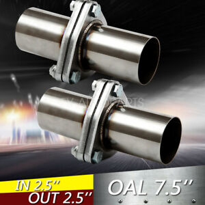 Pair 2pcs 2 5 Od Universal Quickfix Exhaust Triangle Flange Repair Pipe Kit