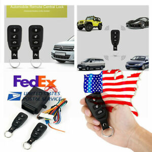 Auto Remote Control Central Door Lock Keyless Entry Universal System Kit Us