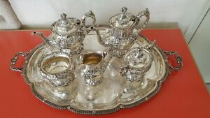 Francis I By Reed Barton Sterling Tea Set 5pc Tray Excellent Price Reduced