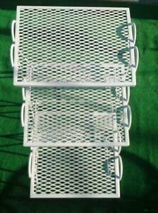 Vtg Nesting Tables Wrought Iron Garden Patio End Tables Salterini Woodard Eames