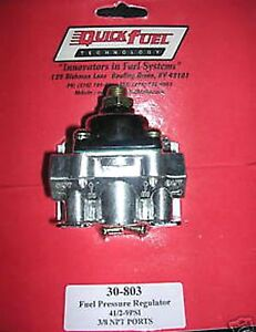 Fuel Pressure Regulator Holley Carburetor Carb Quick Fuel 30 803 4 1 2 9 Psi