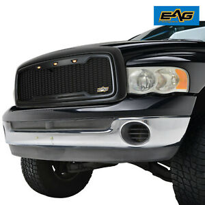 Eag Replacement Upper Led Grille Front Hood Grill For 02 05 Dodge Ram 1500 Hd