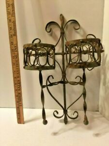Antique Iron Candle Wall Sconce