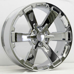 24 Chrome Chevy Tahoe Rally Replica Wheels 24x10 6x5 5 31mm Gmc Yukon Midnight