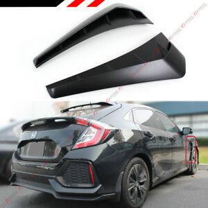 For 2016 19 Honda Civic Fk8 Type R Style 2pc Add On Front Fender Side Vent Cover
