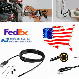 Us 7 0 Mm Lens 5m Cable 2 In 1 Usb Inspection Camera 6led Endoscope Waterproof