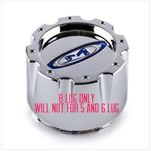 1 New Moto Metal 8 Lug Center Cap Chrome 353k133h 8 Lug Snap In Cap 950 951