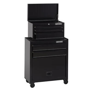 Tool Chest Organizer Box Craftsman Wide 5 Drawer Cabinet Black Wheels 26in Lock