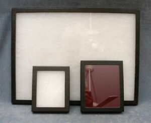 Glass fronted Display Boxes Lot Of 3 12x16 5x6 4 5 X 5 5