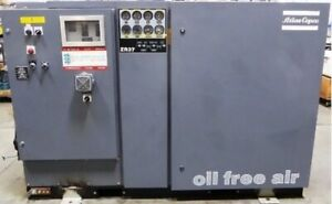 60hp Oil Free Rotary Screw Air Compressor Atlas Copco Zr37 Water Cooled