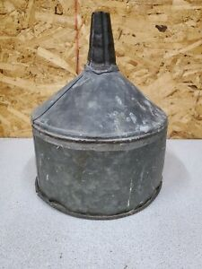 Vintage Large Galvanized Metal Farm Tractor Funnel Light Repurpose Upcycle