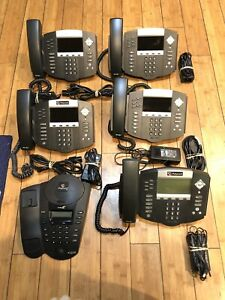 Lot Of 6 Polycom Soundpoint Ip 670 Pro Se 220 Phones