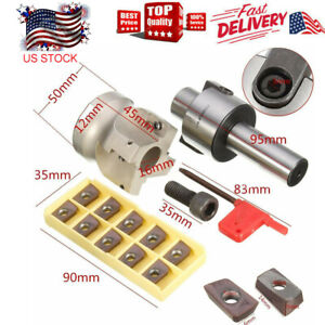 C3 4 fmb22 Holder Face Mill Cutter 400r 50 22 Kit With Apmt1604 Carbide Insert