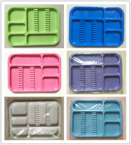 4 X Dental High Quality Plastic Instument Tray Standard Size multi Colour Avail