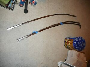 1961 62 Chevy Bubbletop Rear Side Glass Upper Trim Molding
