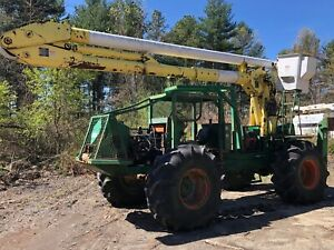 Timberland Gemco Gt300 4x4 Log Skidder 55 Altec Bucket Truck Winch