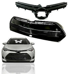 For 2017 2018 2019 Toyota Corolla L Le Xle Ce Front Upper Bumper Grill Grille