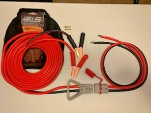 1 Gauge 30 Ft Quick Disconnect Jumper booster Cable Set Tow service Truck 2437d