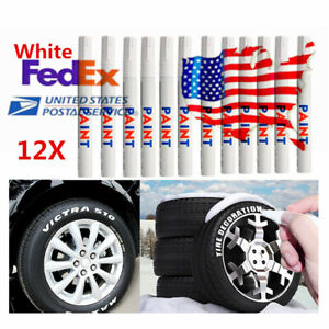 12x Universal Waterproof Permanent Paint Marker Pen Car Tyre Tire Tread Paint Us