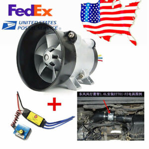 12v 16 5a Car Electric Turbine Turbo Fan Turbo Charger Tan Boost Intake Fans Us