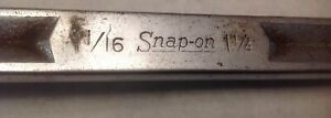 Vintage Snap On Usa xv3440 Offset Double Box End Wrench 1 1 16 X 1 1 4