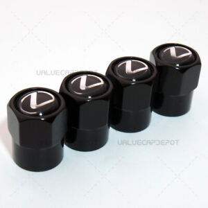 Hexagon Shape For Lexus Logo Emblem Car Wheel Tire Air Valve Cap Stem Dust Cover