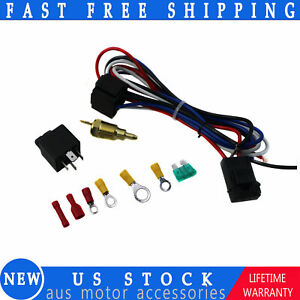Electric Cooling Thermostat Relay Fan 3 8 Kit Sensor Temperature Switch Wiring