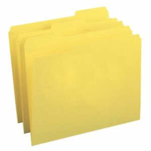 Smead Color File Folders With Reinforced Tabs Legal Size 1 3 Cut Yellow Bo