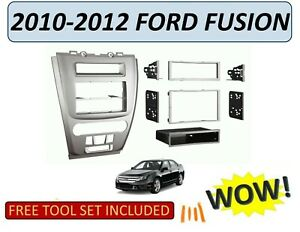 2010 2012 Ford Fusion Car Stereo Installation Dash Kit Silver Finish