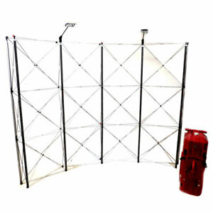 Nomadic Showmate Dl31135n 10 w X 7 9 h Curved Pop up Display Stand W Case