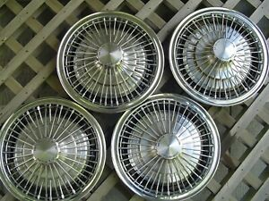 13 In Chevrolet Chevy Corvair Monza Vega Hubcaps Wheel Cover Antique Vintage