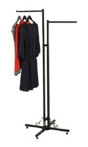 Clothing Rack Two 2 Way Straight Arms Clothes Garment Display Dark Charcoal